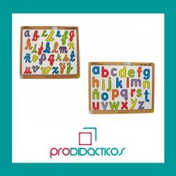 ABC encajable mayúsculas y minúsculas y cursiva