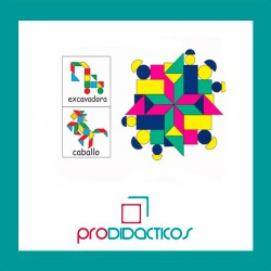 Mosaico Didactico x44 piezas