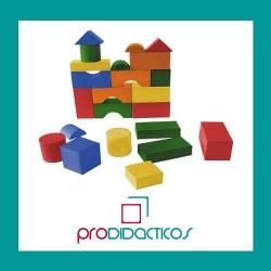 Juego de construcciones en madera X100 piezas